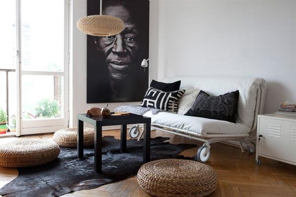 Гостиная - спальня с раскладным диваном дизайн фото
