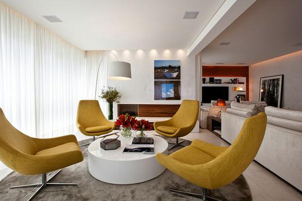 Зонирование комнаты с помощью потолков