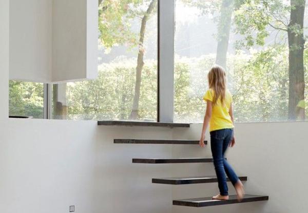Лестница в современном стиле дизайн