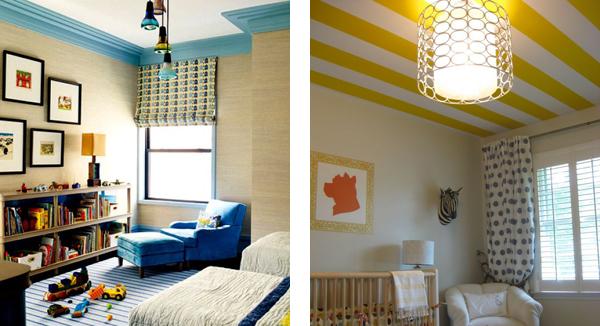 Идеи для декорирования потолков в детской