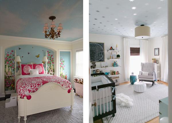 Идеи для декорирование потолка в детской
