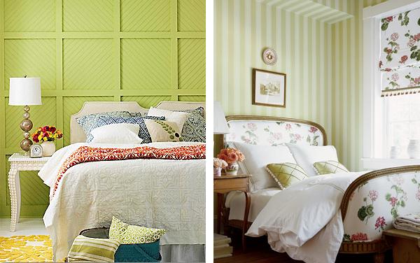 фисташковая спальня салатовый цвет