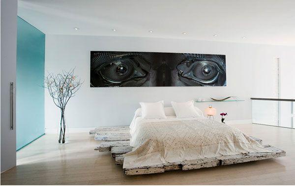 Современная белая спальня
