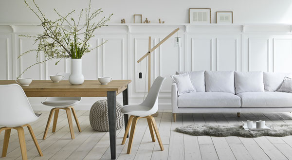 Белый цвет в интерьере комнаты