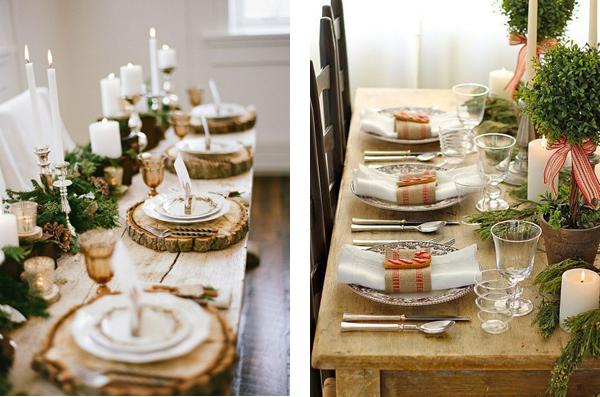 Примеры новогодней сервировки стола