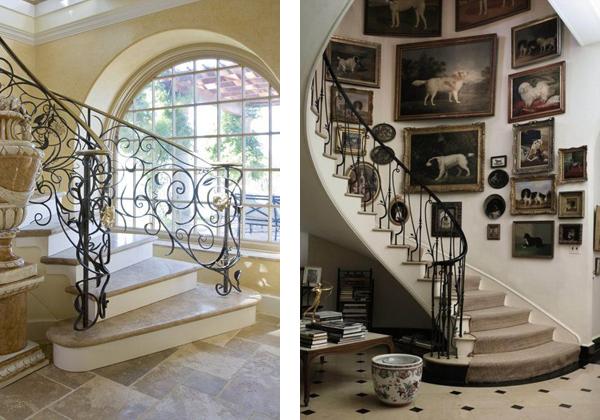 Лестницы в классическом стиле из мрамора