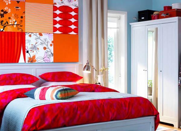 красная спальня дизайн фото