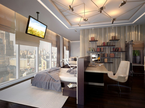 Домашний кабинет дизайн и организация эргономика фото