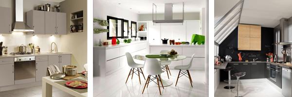 кухни белого, серого и черного цвета