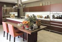 бежевые коричневые кухни
