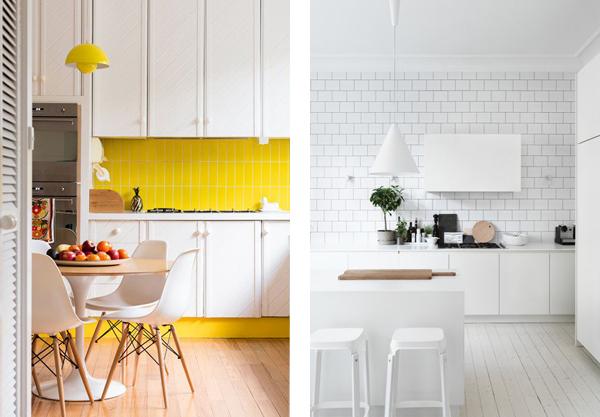 Кухни с фасадами белого цвета