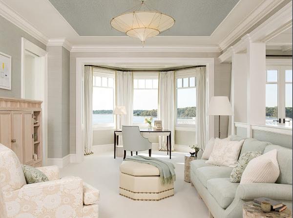 серый цвет в гостиной
