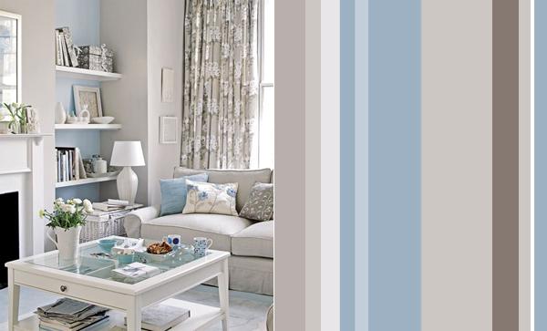 Голубой цвет в гостиной фото