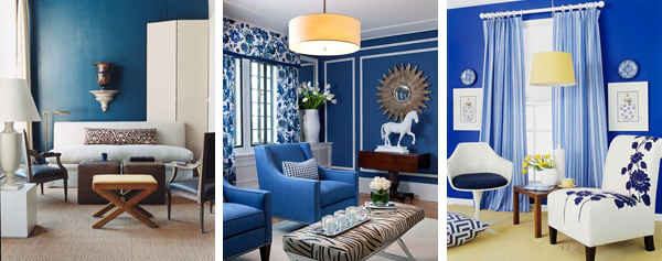 Синяя гостиная фото