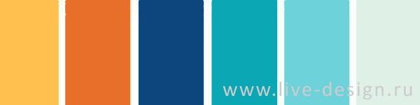 голубой цвет в интерьере гостиной цветовая схема