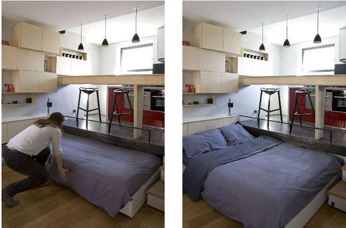 Дизайн комнаты-студии 12 кв.м фото