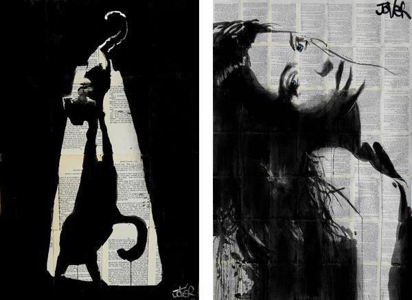 Рисунки тушью Луи Джовера (Loui Jover).