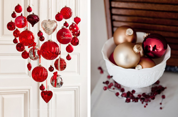 Декоративные новогодние композиции новогодний декор 2016 красный