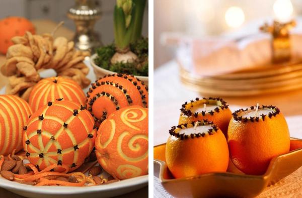 новогодний декор 2016 оранжевый апельсин