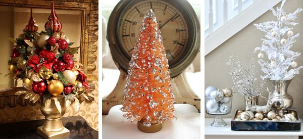 новогодний декор 2015 оранжевый красный золотой