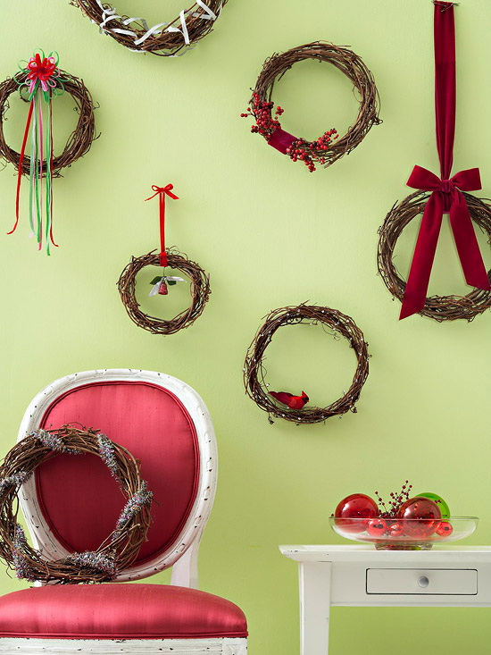 Как украсить стены на новый год своими руками фото