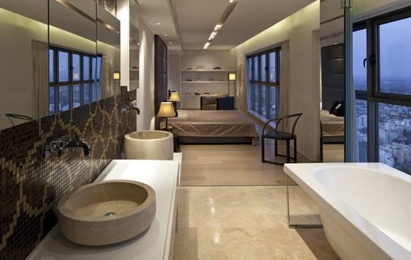 Ванная в спальне дизайн фото
