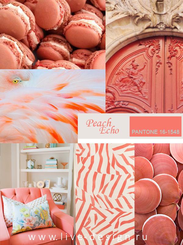 Модный цвет Весна-Лето 2016 – Peach Echo / Персиковое эхо (Pantone 16-1548)
