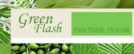 Модный цвет Весна-Лето 2016 – Green Flash / Зеленая вспышка (Pantone 15-0146)