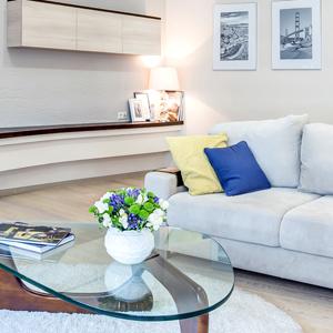 дизайн гостиной большой диван фото