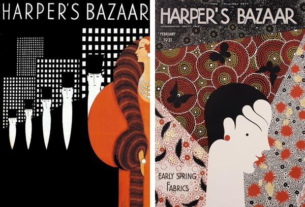Обложки для журнала Harper's Bazaar работы Эрте