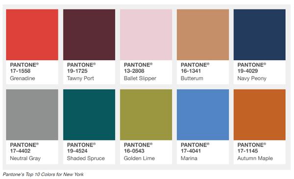Модные цвета Pantone 2018 осень/зимаs fashion colors
