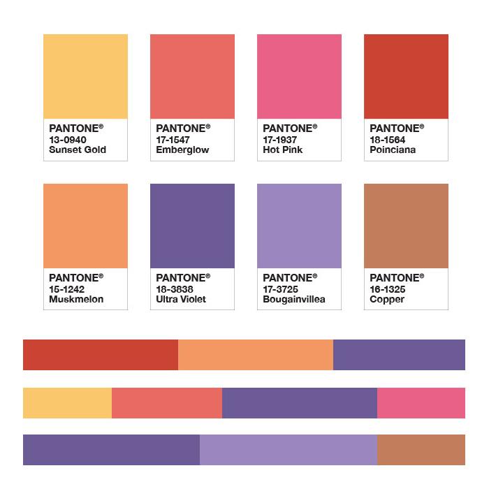 Палитра дополнительных цветов к оттенку Ultra Violet
