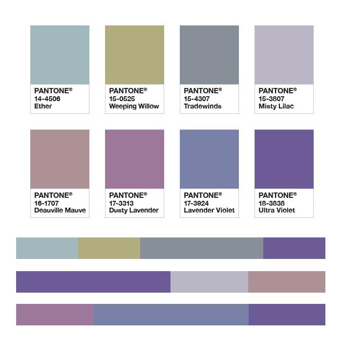 Цвет года 2018 Ultra Violet и палитра сочетающихся оттенков
